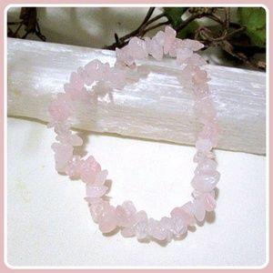 """Jewelry - """"Unconditional Love"""" Rose Quartz Chip Bracelet"""